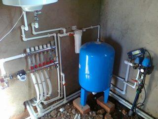 Подключение водоснабжения в частном доме